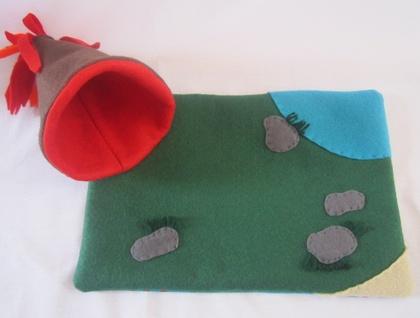 Felt Dinosaur Amp Volcano Play Mat Felt