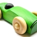 Green Wooden Car