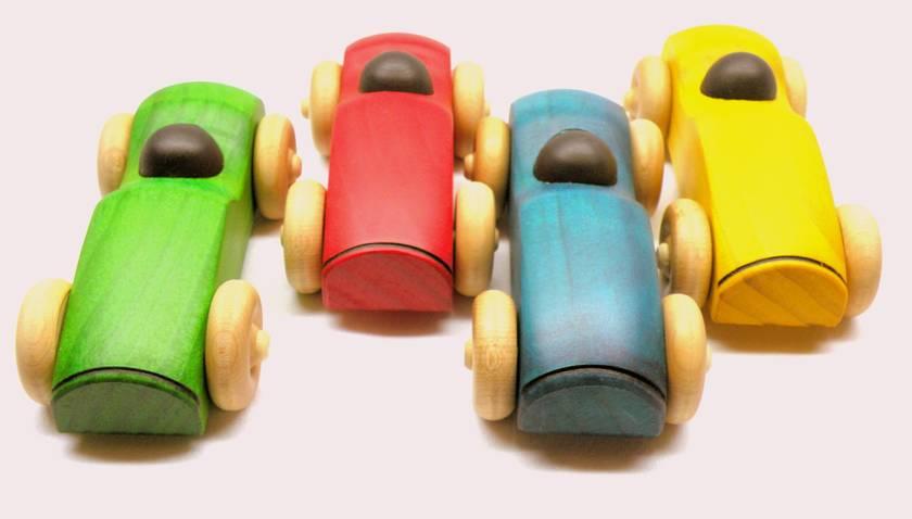 Green Wooden Car
