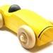 Yellow Wooden Car