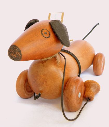Pull-Along Wooden Dog