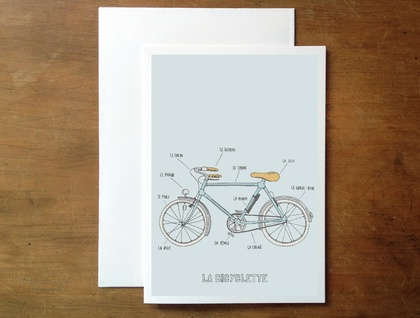 La Bicyclette greeting card
