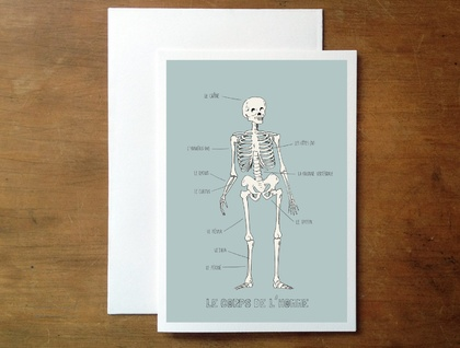 Anatomy in french greeting card
