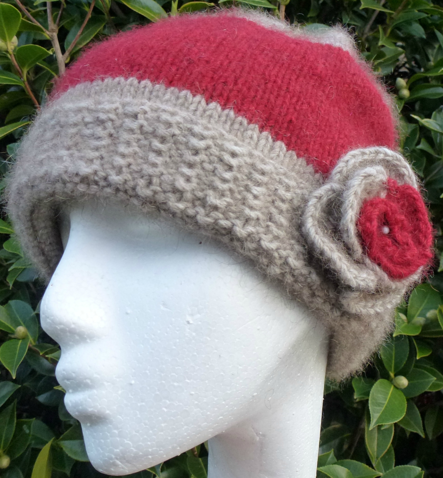 Soft Luxurious Possum Merino & Silk Hand Knitted Cloche Hats Felt