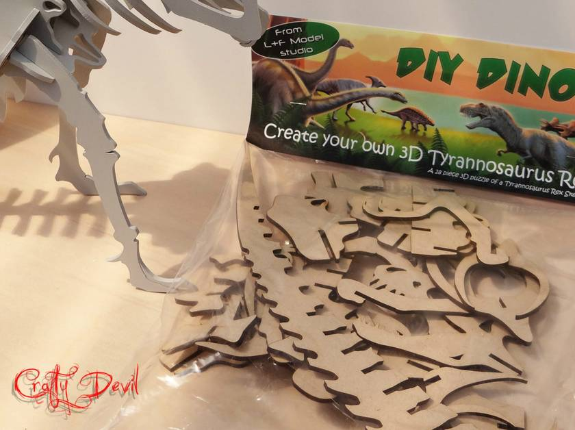 D.I.Y Dino! Fantastic 3D wooden T Rex - Perfect for your little monsters.