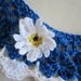 Blue & White Hand Crocheted Collar