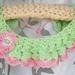 Mint & Pink Hand Crocheted Collar