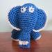 Elephant Navy Blue - Hand Crocheted