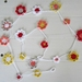 Daisy Chain Bunting / Garland Pink/red/White/Grey