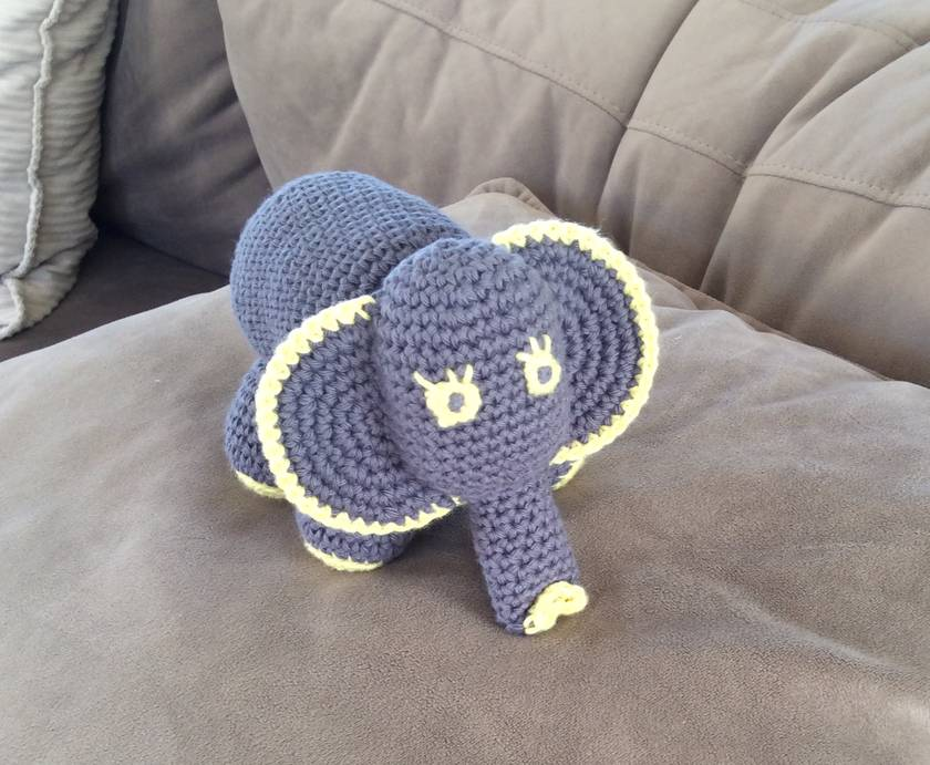 Elephant - Hand Crocheted