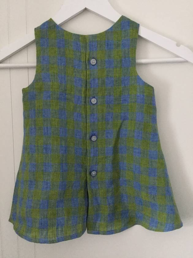 Linen Upcycled Shirt Dress Sz 1