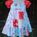 Girl's Peasant Dress size 3 Sugar and Spice by The Quilted Fish