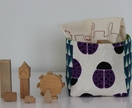 Small nursery organiser / toy basket / a perfect addition to a boy's bedroom!