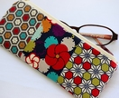 Japanese retro print pencil case / glasses case