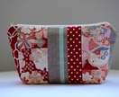 Japanese retro pattern make-up pouch