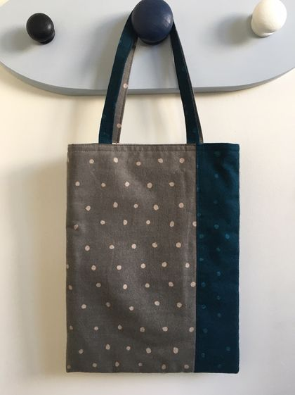 Patchwork polka dots tote bag