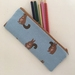 Squirrel print pencil case / make-up pouch / toiletry pouch