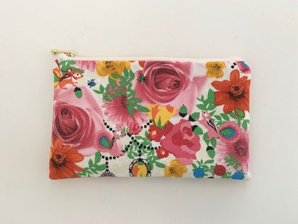 Back to school specials! Medium size pencil case / make-up pouch / toiletry pouch / clutch