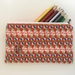 Terrier print medium size pencil case / make-up pouch / toiletry pouch / clutch