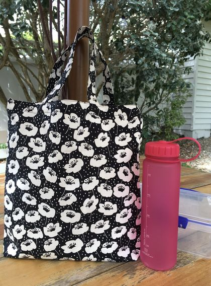 2 way tote bag / lunch bag / nappy bag / shopping bag / lessons bag