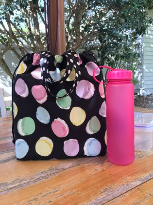 Back to school specials! Macarons tote bag / lunch bag / nappy bag / lessons bag