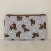 Toy poodles print medium size pencil case / make-up pouch / toiletry pouch / clutch