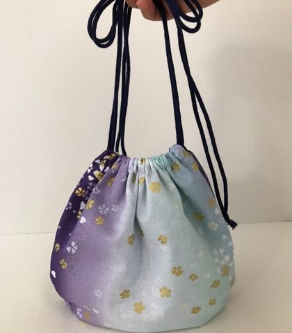 Japanese drawstring bag / crossbody bag / shoulder bag / Make-up bag