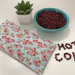 Organic adzuki beans hot & cold eye pillow / microwavable heat pack / ouch pack