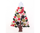 Christmassy wallscape - magnetic interactive decor - made to order