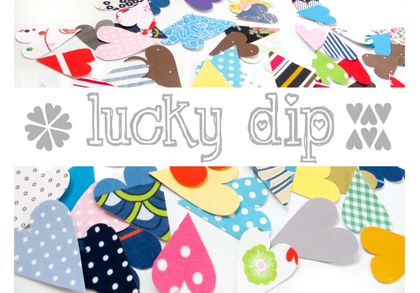 Lucky dip stickers - mixture of 10 hearts!