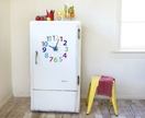 Fridge clock!  '1-12 numbers' design - choose colours