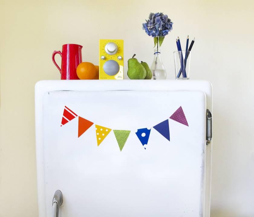 rainbow mini bunting magnets - for the fridge