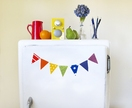rainbow mini bunting magnets - for the fridge