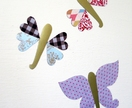 Butterflies, dragonflies + lovehearts - whimsical magnetic decals