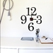 Restickable wall clock!  'oversize numbers' design - choose colours