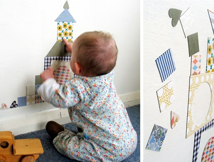 Building blocks - interactive magnetic wallscape
