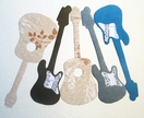 Magnetic guitar decals - set of 5