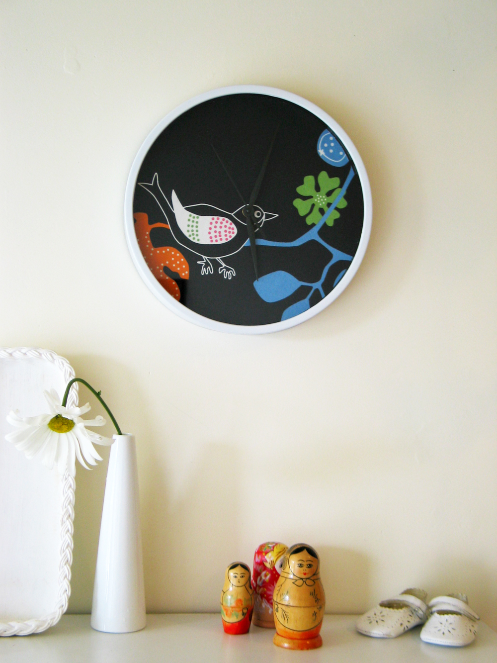 Wall Clock 1 Designer Fabric Felt