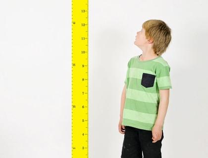 Restickable Wall Ruler Height Chart - Yellow!