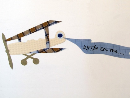 Aeroplane & write-on banner: magnetic decals