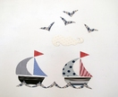 Sailboats magnetic wall art - medium