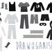 Restickable Drawer Organisers - Monotone