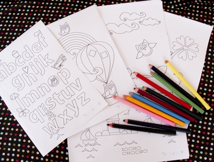 Choose 5 colouring pages - original hjrdDesign illustrations - printable PDF