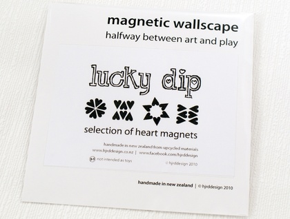 Lucky dip magnets - mixture of 12 hearts!