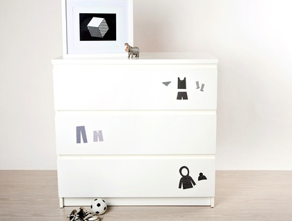Restickable Drawer Organisers - Monotone