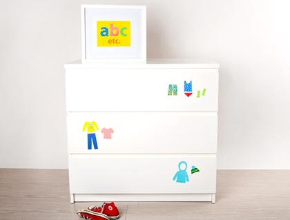 Restickable Drawer Organisers - Bright & Bold