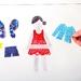 Restickable Dress-Up Kid, Bold & Girly