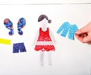 Restickable Dress-Up Kid, Bold & Girly