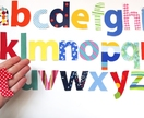 restickable fabric alphabet decals!