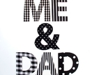 """Me & Dad"" magnetic letters set for Fathers Day"